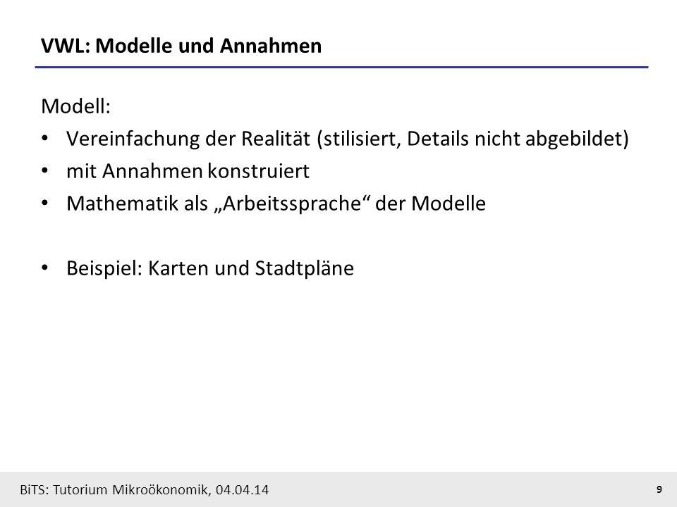 VWL: Modelle und Annahmen