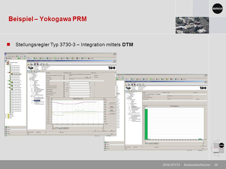Beispiel – Yokogawa PRM