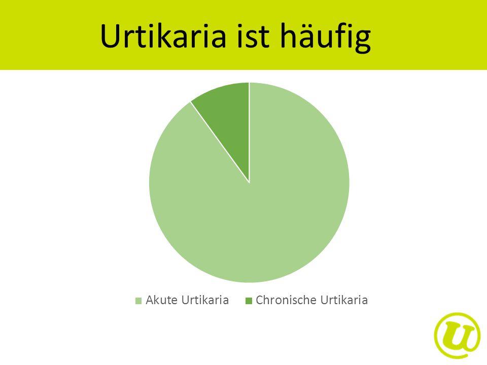 Urtikaria ist häufig