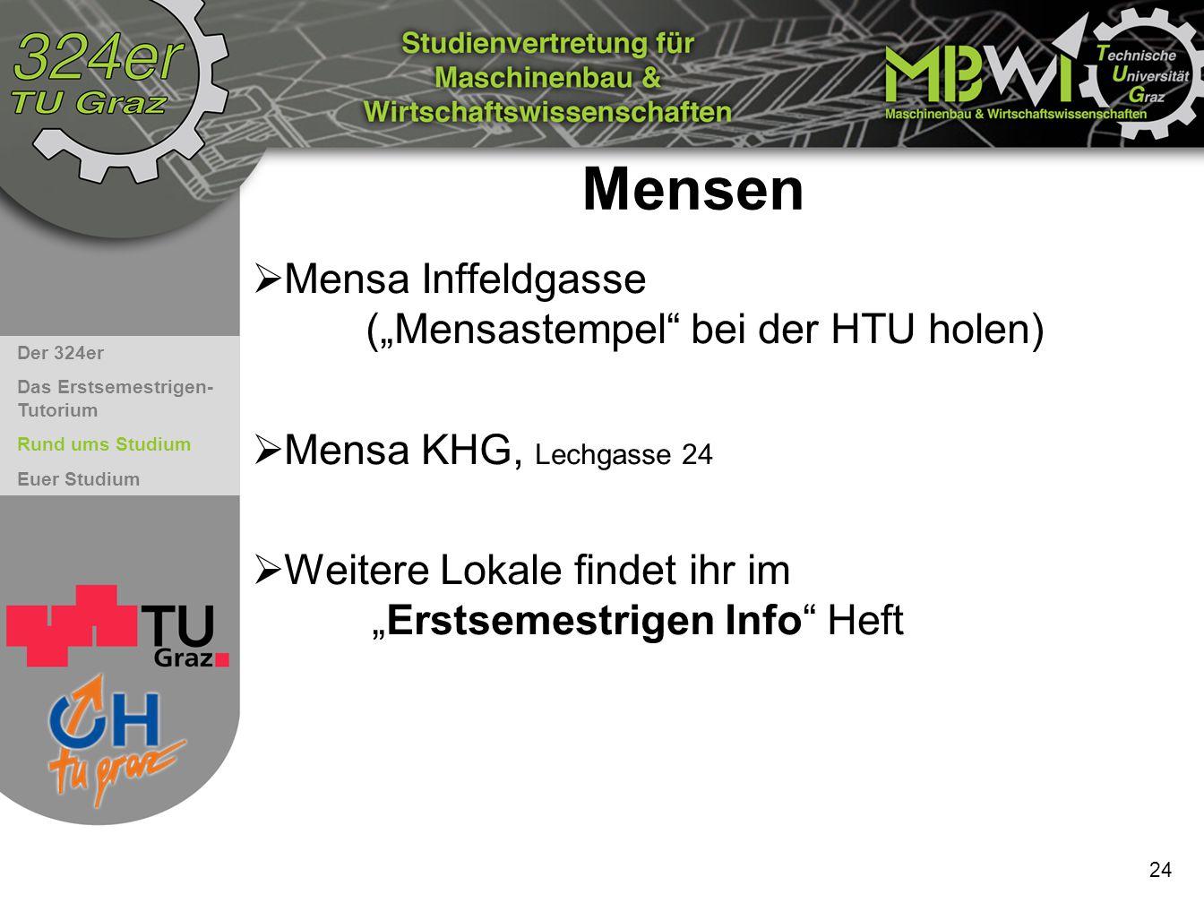 """Mensen Mensa Inffeldgasse (""""Mensastempel bei der HTU holen)"""