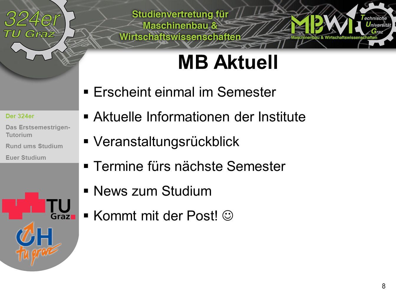 MB Aktuell Erscheint einmal im Semester