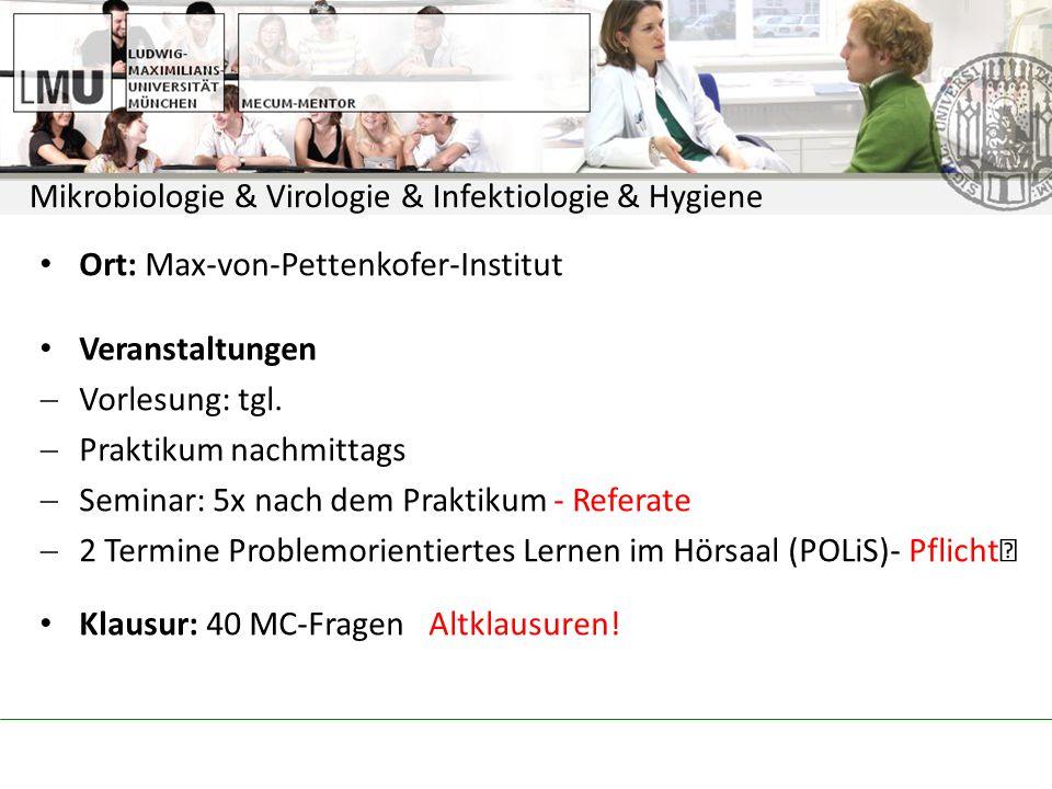 Mikrobiologie & Virologie & Infektiologie & Hygiene