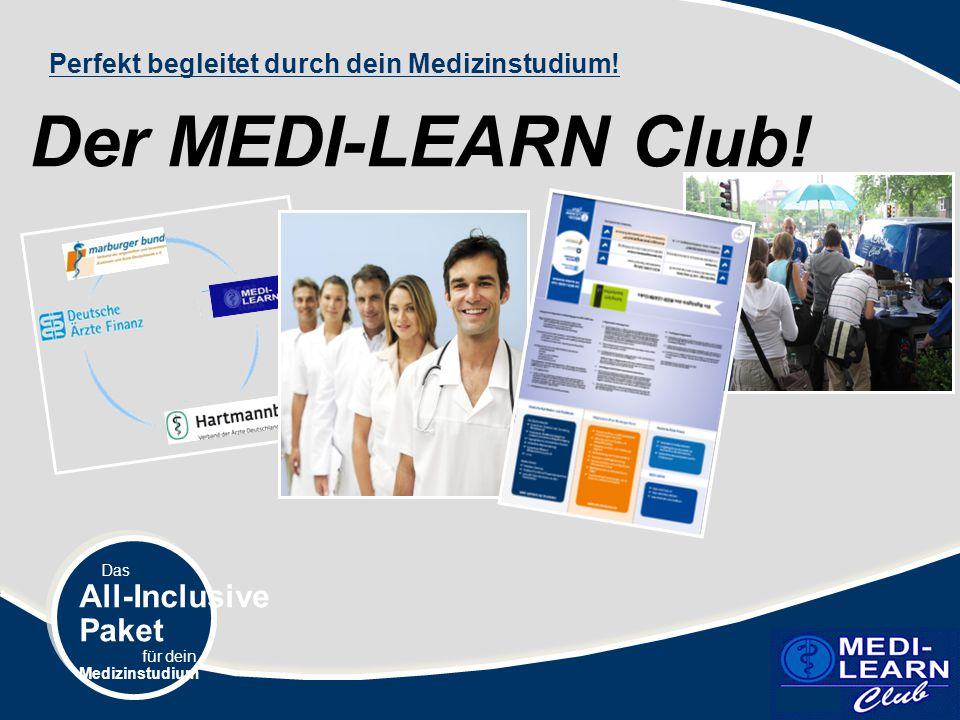 Der MEDI-LEARN Club! MDL.TIF All-Inclusive Paket
