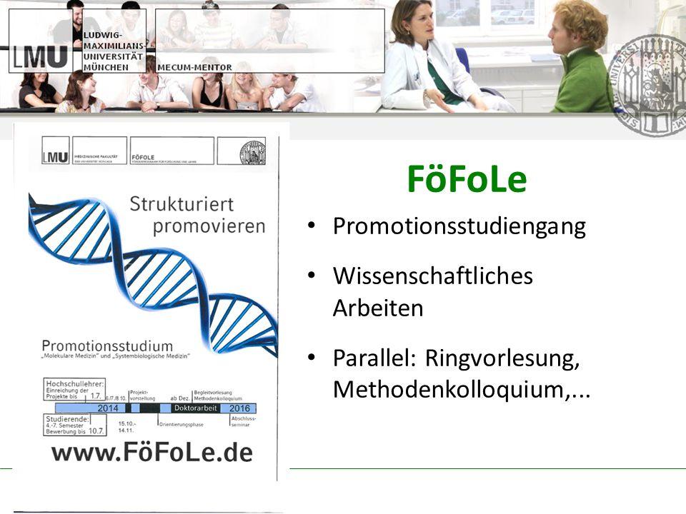 FöFoLe Promotionsstudiengang Wissenschaftliches Arbeiten