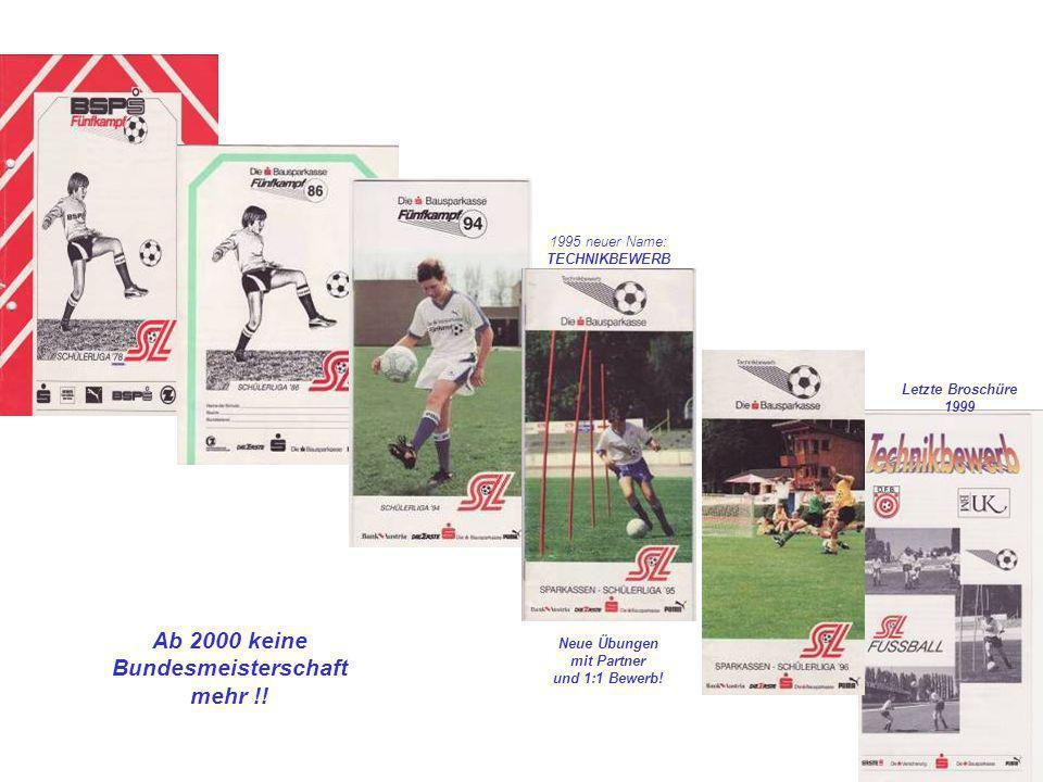 Ab 2000 keine Bundesmeisterschaft mehr !!