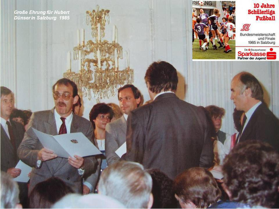 Große Ehrung für Hubert Dünser in Salzburg 1985