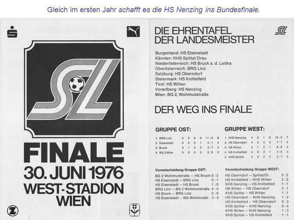 Gleich im ersten Jahr schafft es die HS Nenzing ins Bundesfinale.