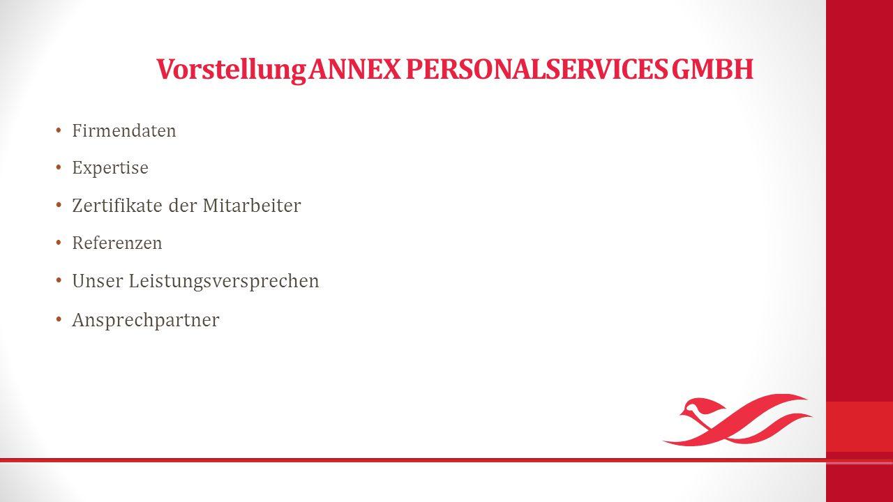 Vorstellung ANNEX PERSONALSERVICES GMBH