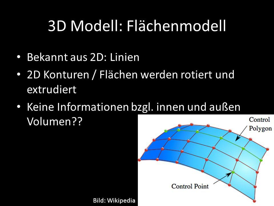 3D Modell: Flächenmodell