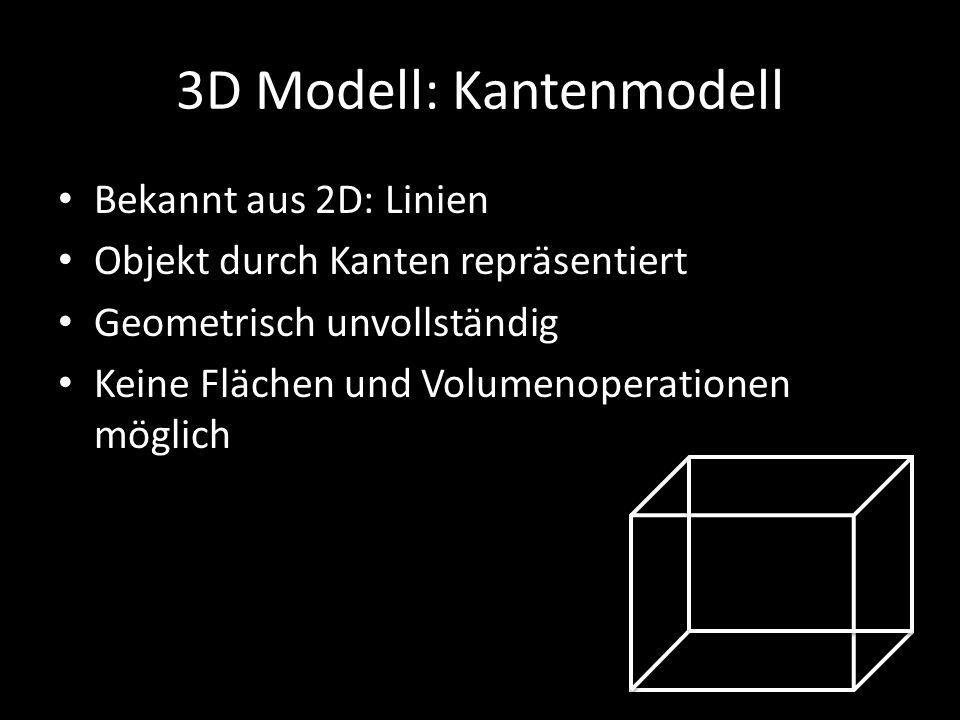 3D Modell: Kantenmodell