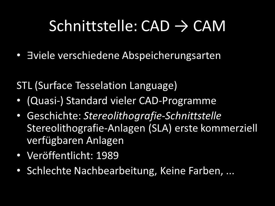 Schnittstelle: CAD → CAM