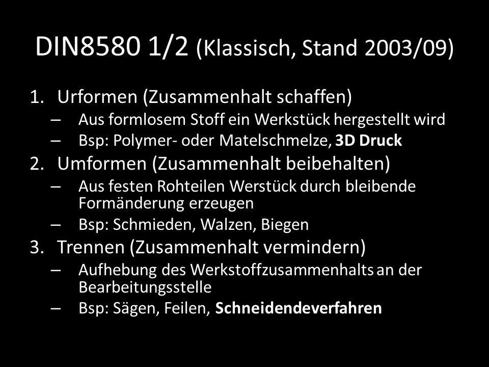 DIN8580 1/2 (Klassisch, Stand 2003/09)
