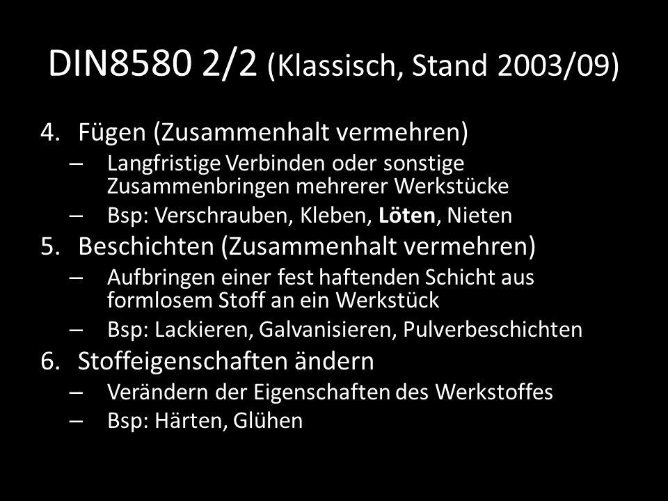 DIN8580 2/2 (Klassisch, Stand 2003/09)