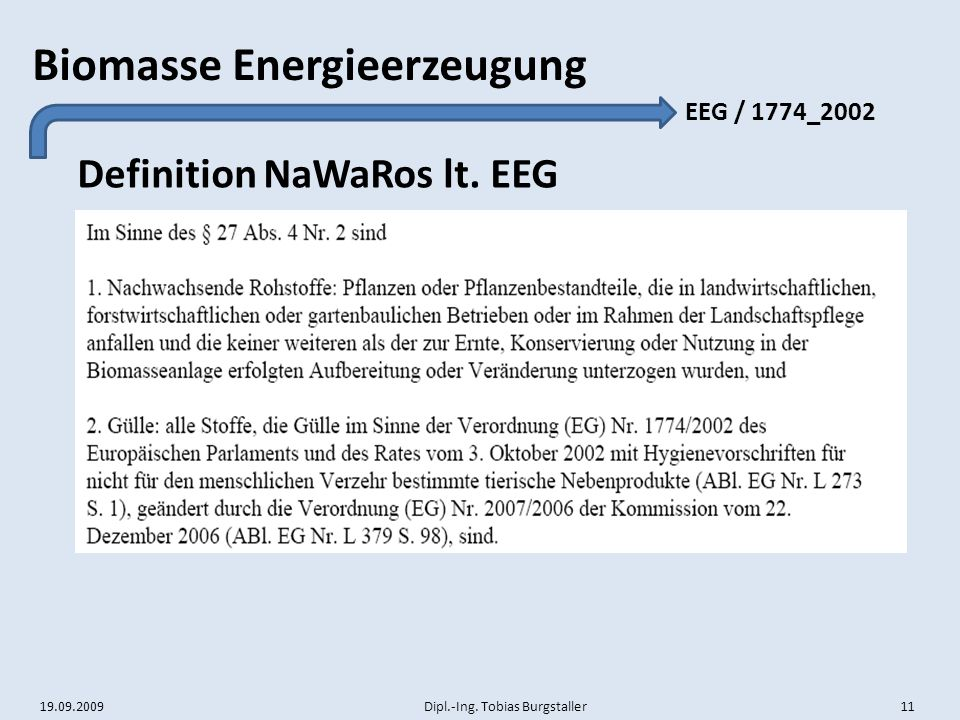 Definition NaWaRos lt. EEG