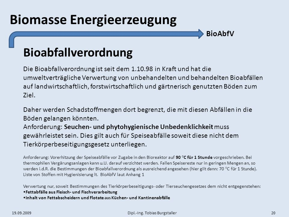 Bioabfallverordnung BioAbfV