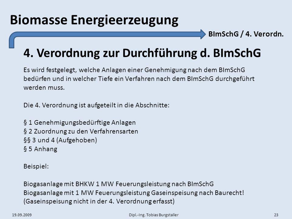 4. Verordnung zur Durchführung d. BImSchG