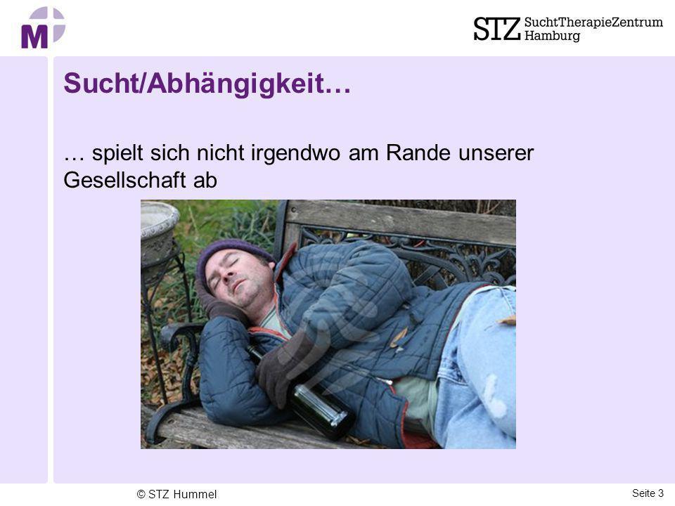 Sucht/Abhängigkeit… … spielt sich nicht irgendwo am Rande unserer Gesellschaft ab © STZ Hummel