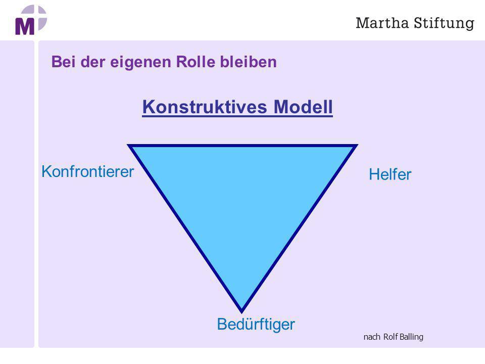 Bei der eigenen Rolle bleiben Konstruktives Modell