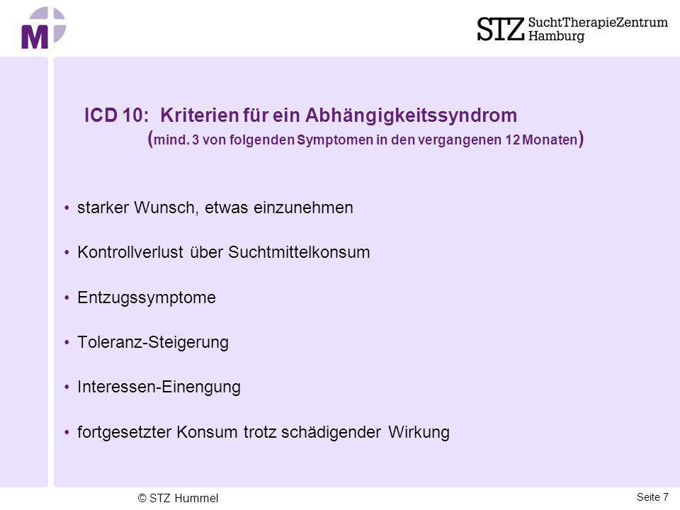 ICD 10: Kriterien für ein Abhängigkeitssyndrom (mind