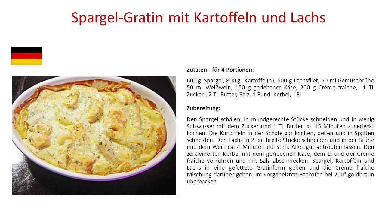 Spargel-Gratin mit Kartoffeln und Lachs