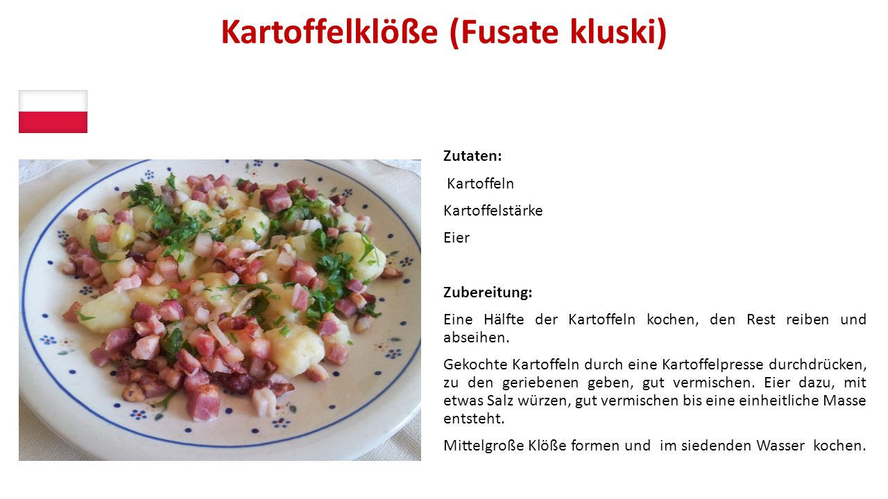 Kartoffelklöße (Fusate kluski)