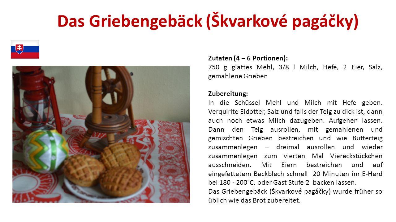 Das Griebengebäck (Škvarkové pagáčky)