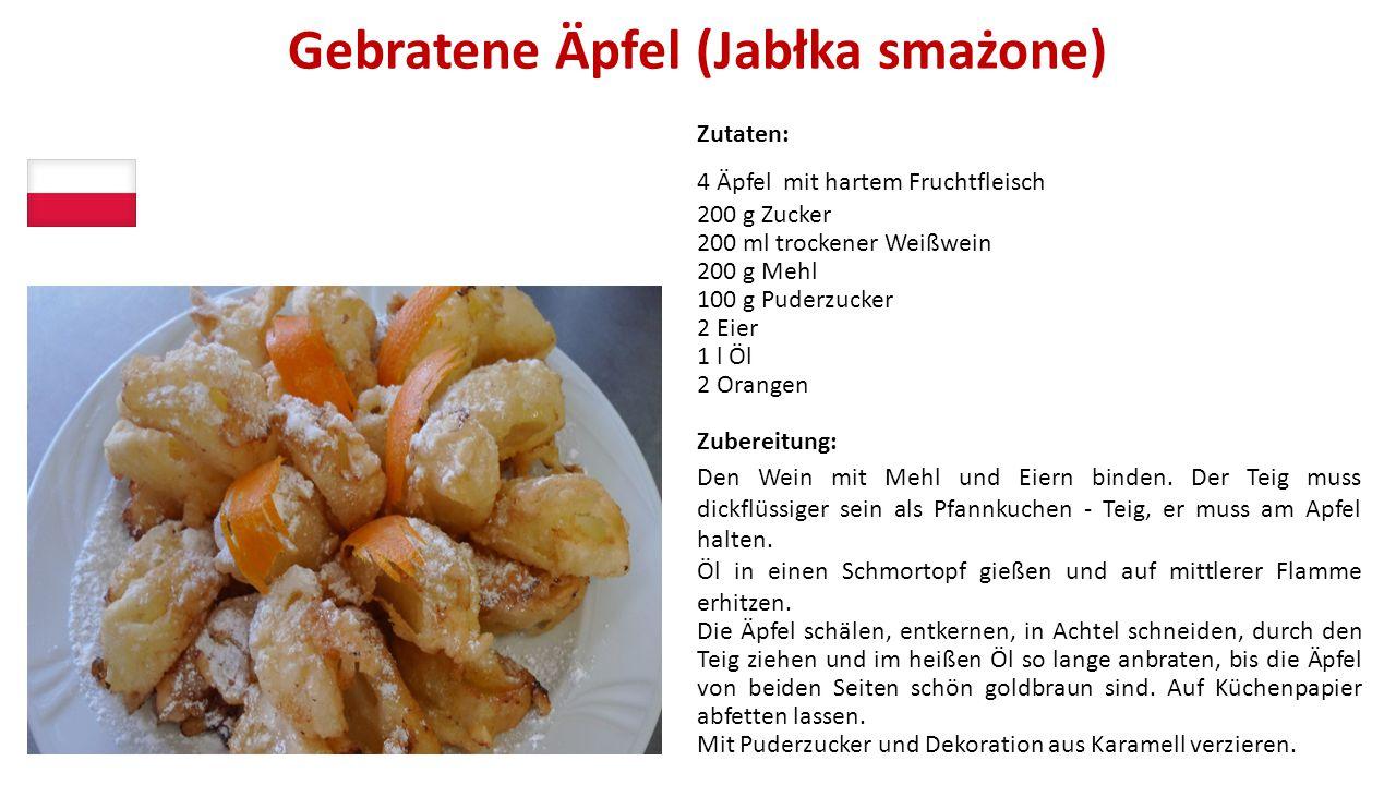 Gebratene Äpfel (Jabłka smażone)