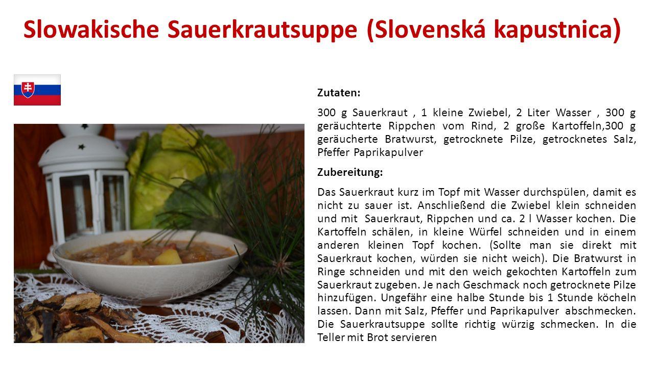 Slowakische Sauerkrautsuppe (Slovenská kapustnica)