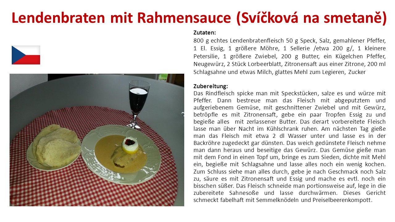 Lendenbraten mit Rahmensauce (Svíčková na smetaně)