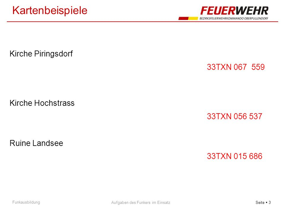 Kartenbeispiele Kirche Piringsdorf 33TXN 067 559 Kirche Hochstrass