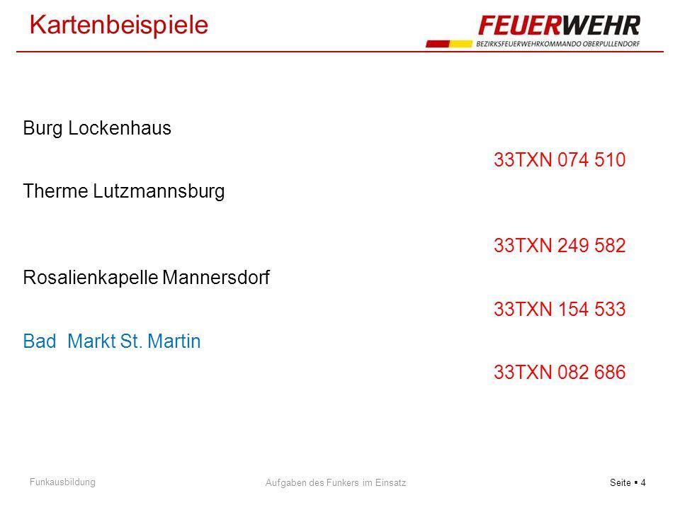 Kartenbeispiele Burg Lockenhaus 33TXN 074 510 Therme Lutzmannsburg