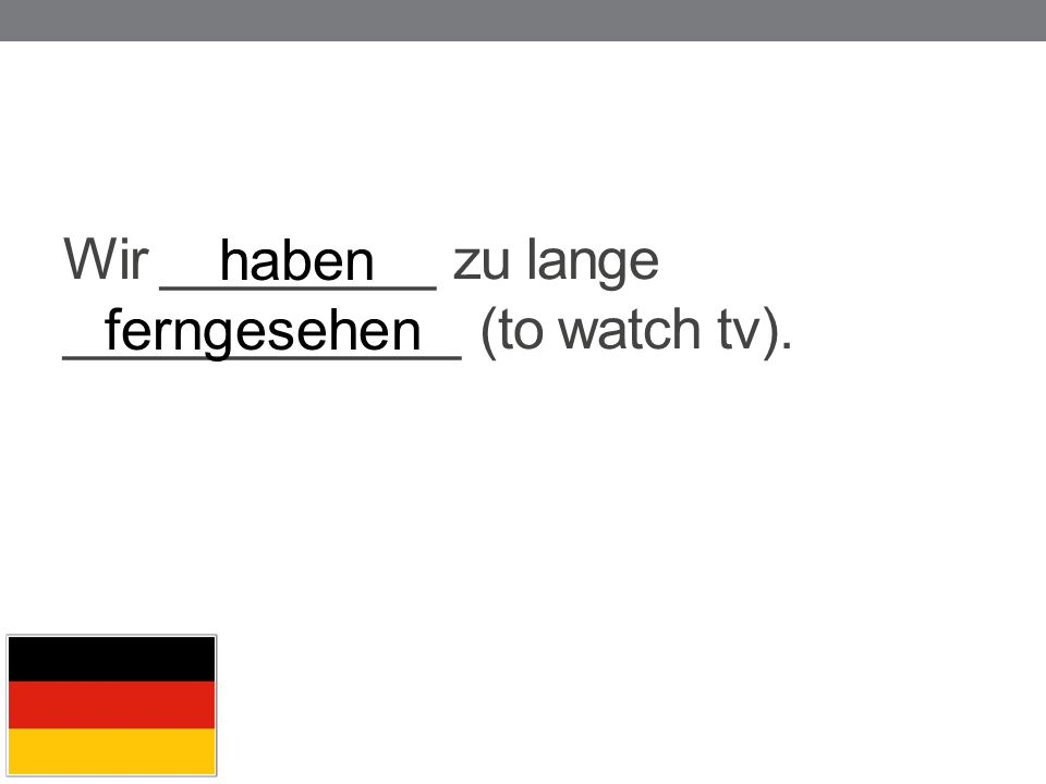 Wir _________ zu lange _____________ (to watch tv).