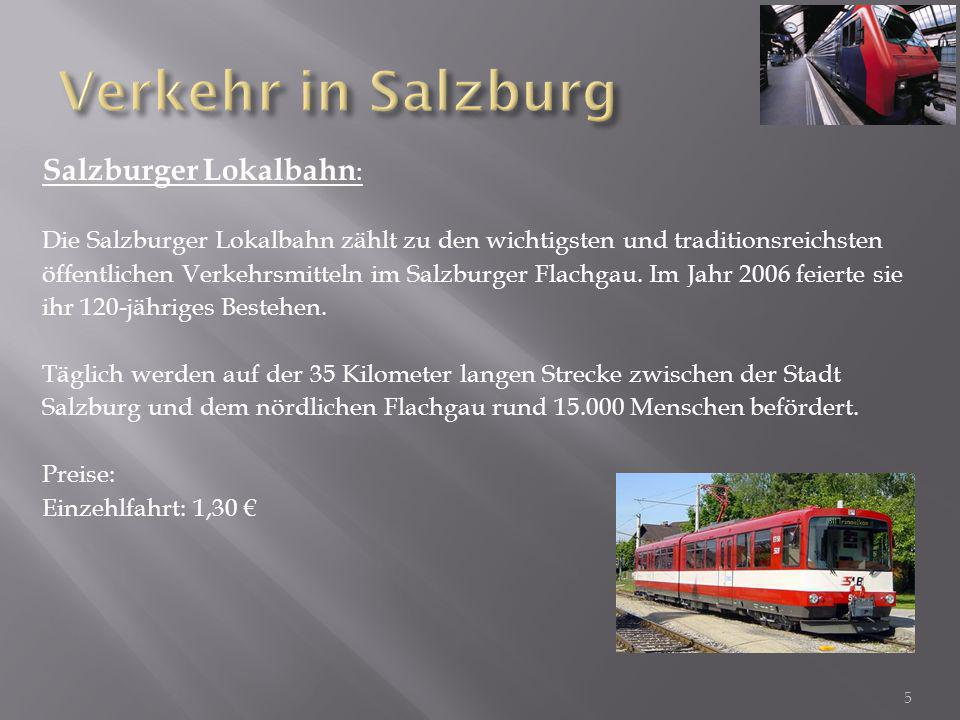 Verkehr in Salzburg Salzburger Lokalbahn: