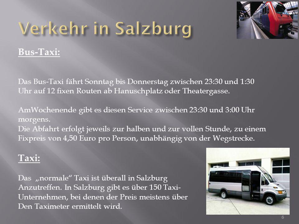 Verkehr in Salzburg Bus-Taxi: Taxi: