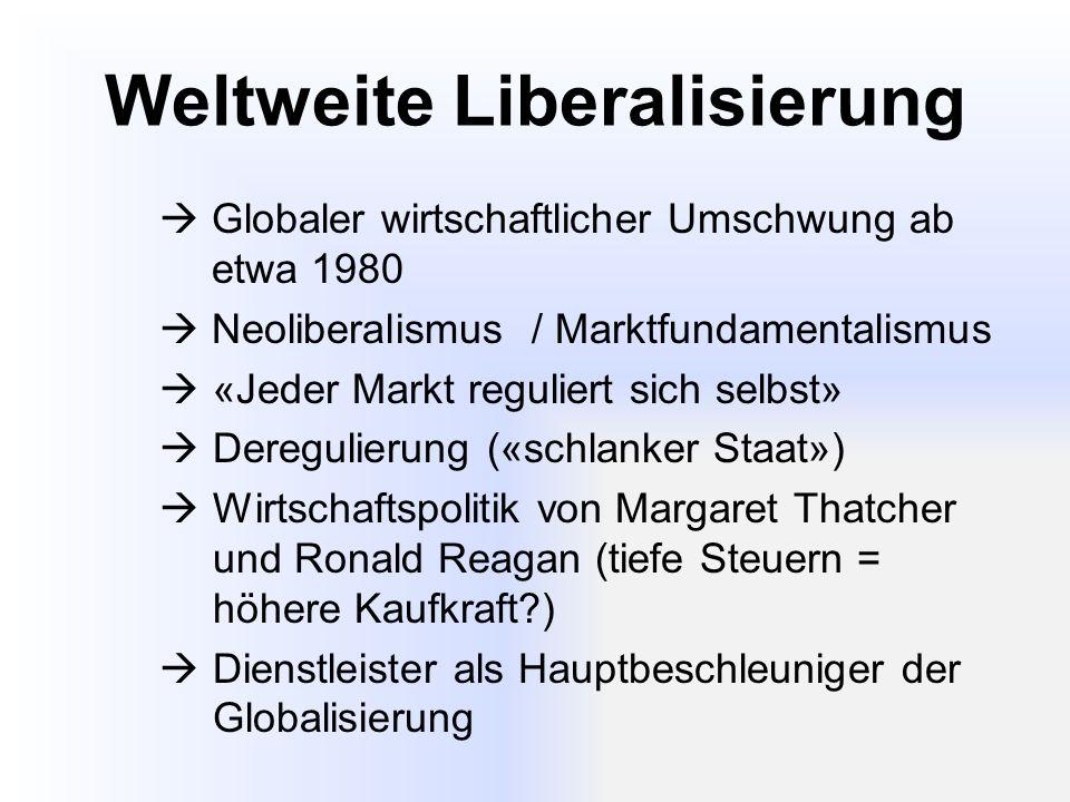 Weltweite Liberalisierung