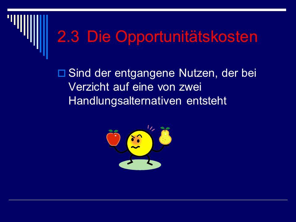 2.3 Die Opportunitätskosten