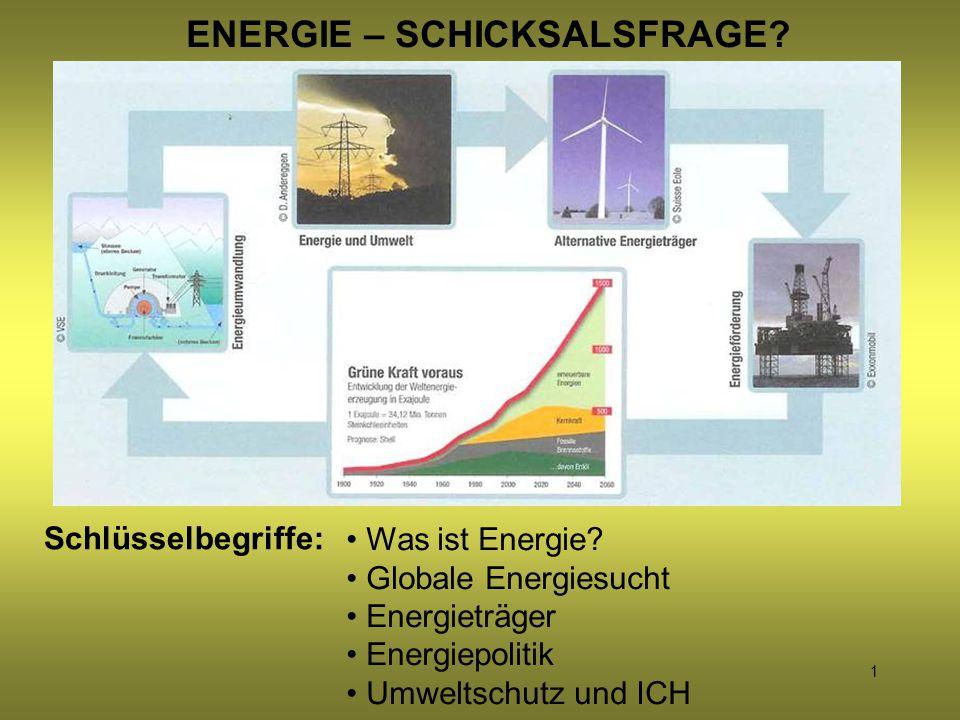 ENERGIE – SCHICKSALSFRAGE