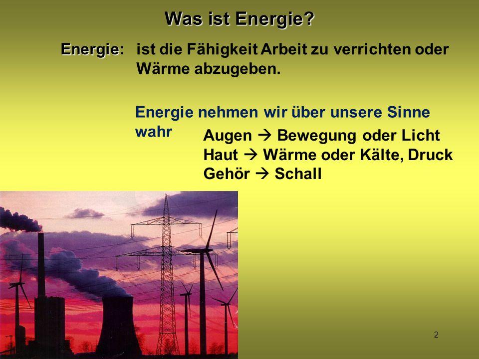 Was ist Energie Energie: