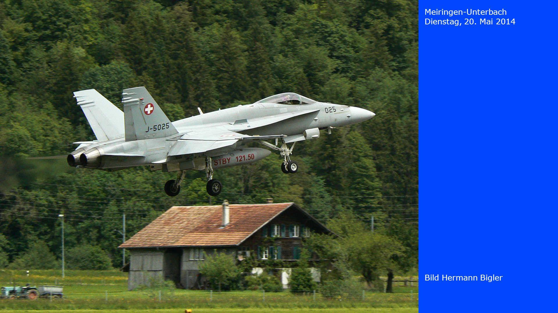 Meiringen-Unterbach Dienstag, 20. Mai 2014 Bild Hermann Bigler