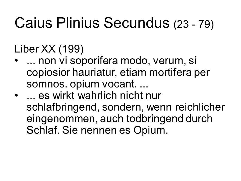 Caius Plinius Secundus (23 - 79)