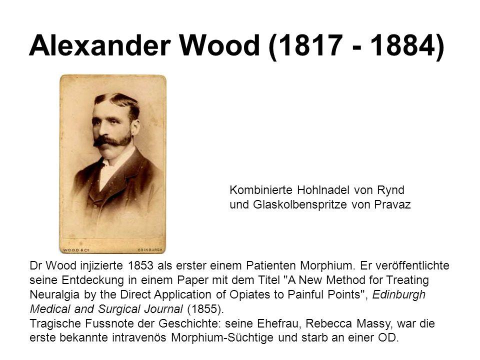 Alexander Wood (1817 - 1884) Kombinierte Hohlnadel von Rynd und Glaskolbenspritze von Pravaz.