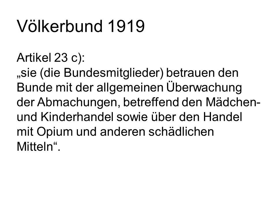 Völkerbund 1919 Artikel 23 c):