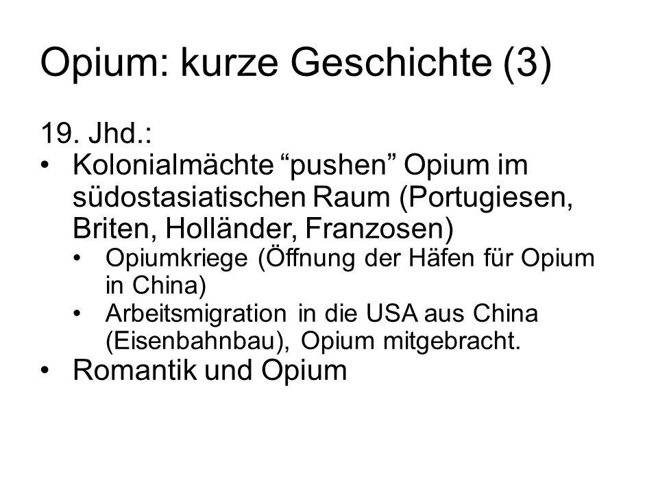Opium: kurze Geschichte (3)