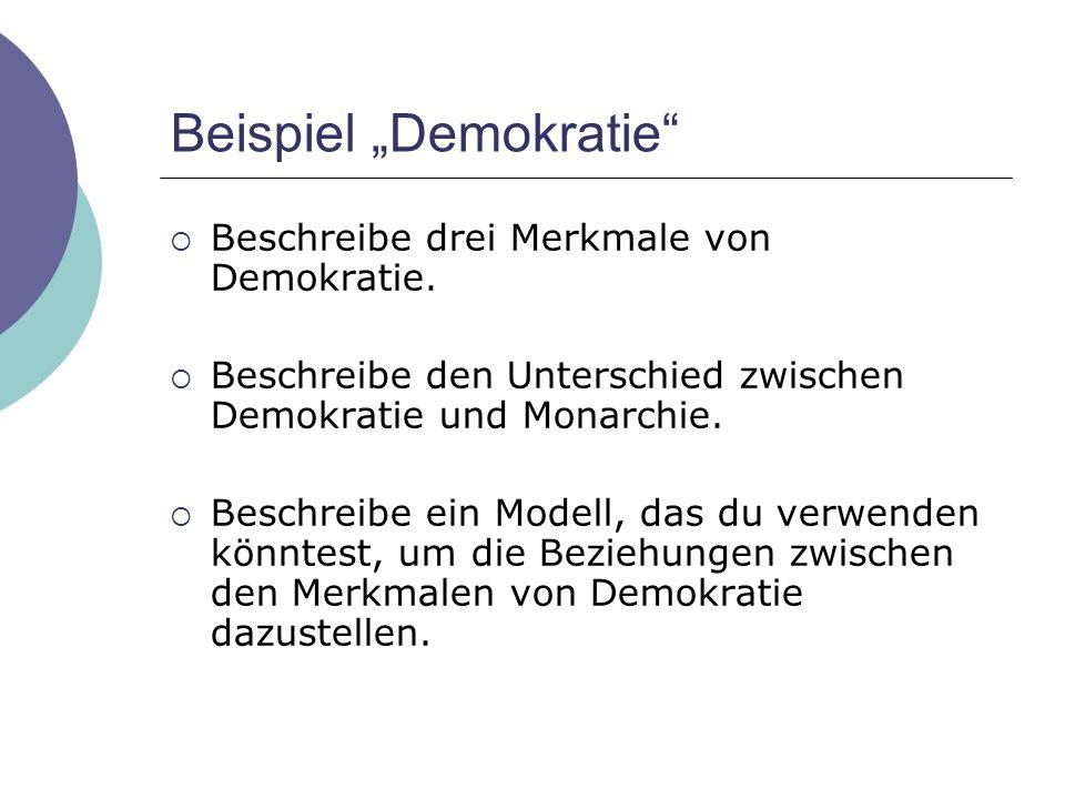 """Beispiel """"Demokratie"""