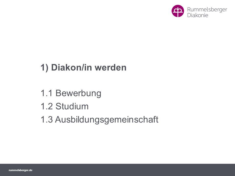 1.1 Bewerbung 1.2 Studium 1.3 Ausbildungsgemeinschaft