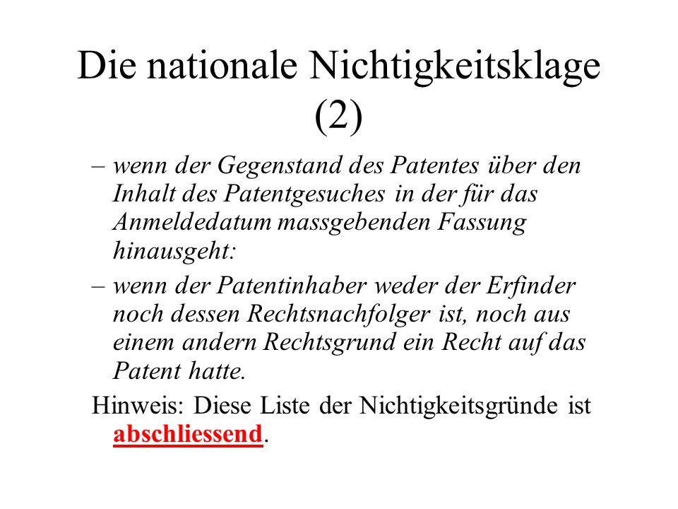 Die nationale Nichtigkeitsklage (2)
