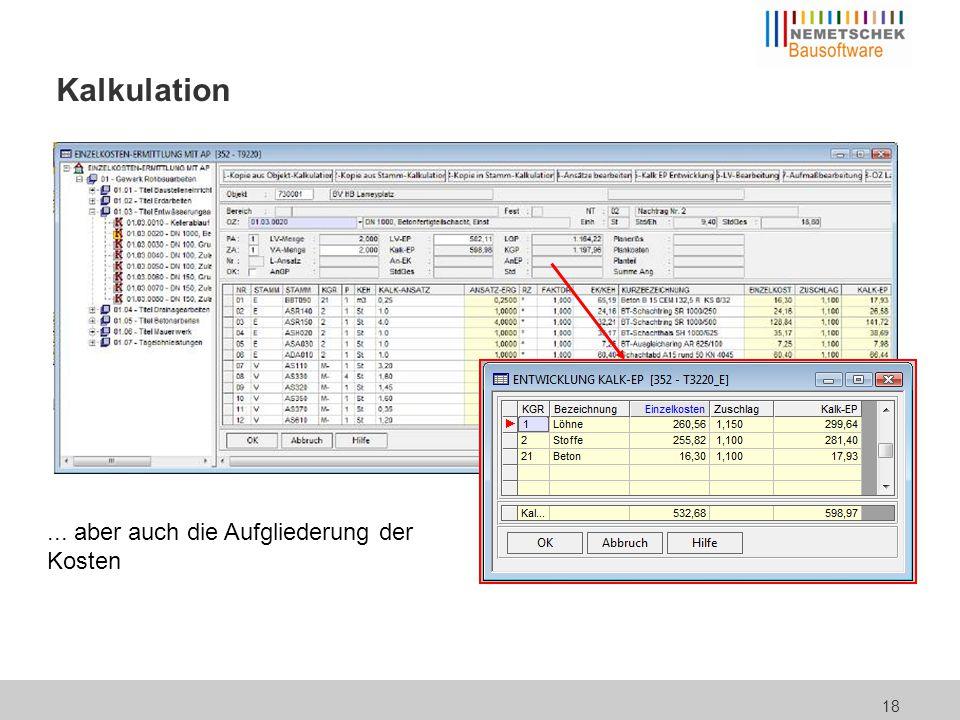 Zugriff auf Hersteller- / Lieferantendaten in der Kalkulation