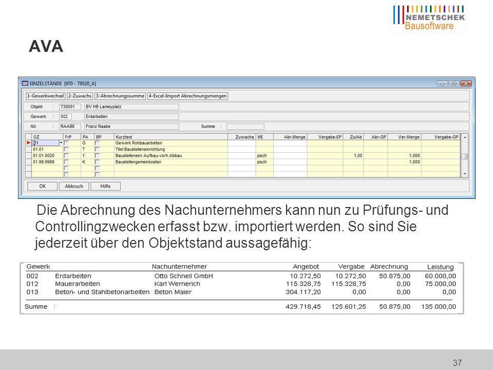 """NU-Controlling Die Überwachung der Vergabebudgets können Sie dem Modul """"Nachunternehmercontrolling anvertrauen:"""