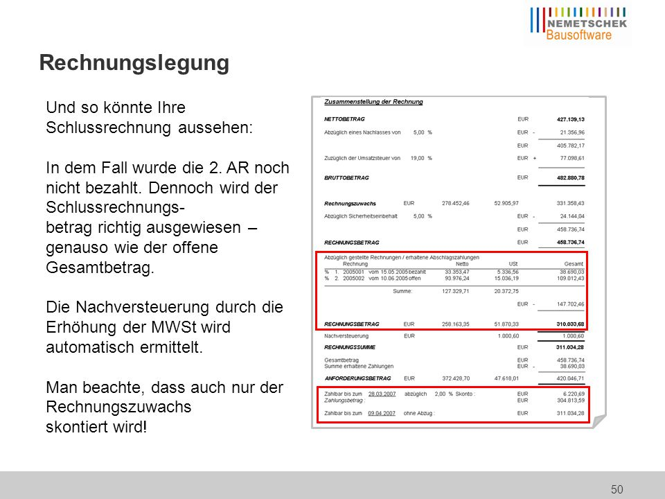 Taglohn / Regieabrechnung