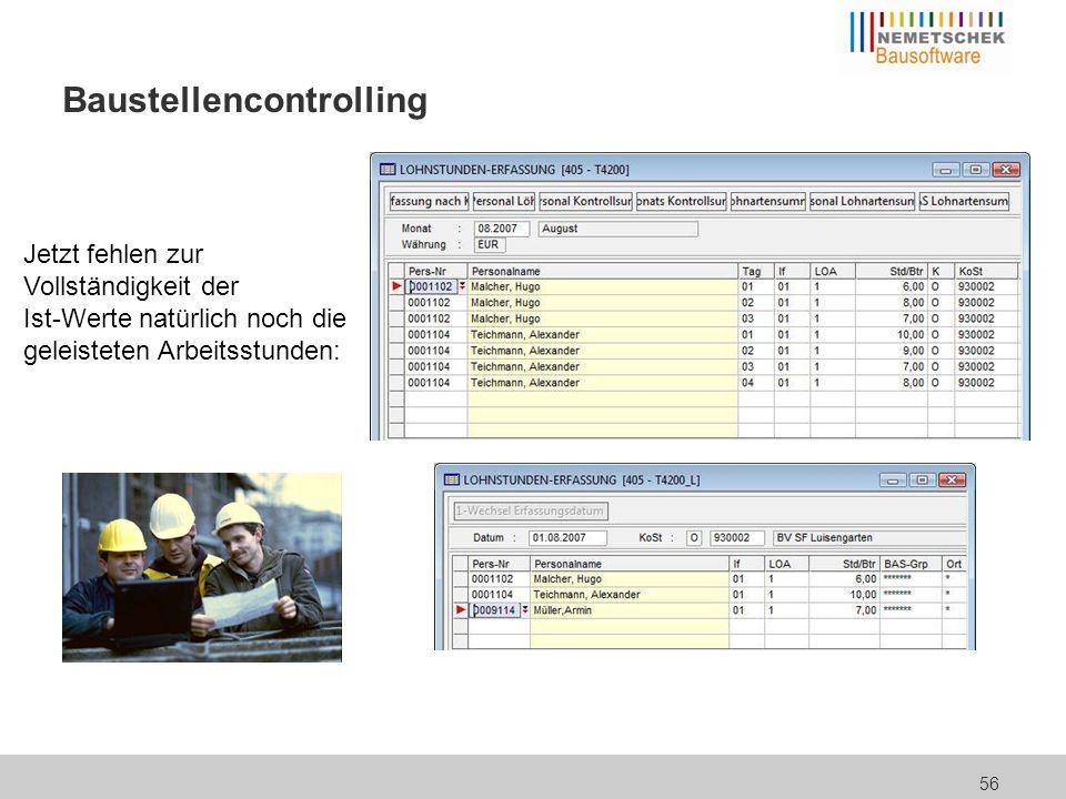 Baustellencontrolling